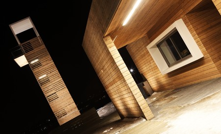 structure: beautiful  wood structure shot during the night Stock Photo