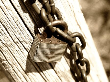 old lock with a shallow depth of field photo