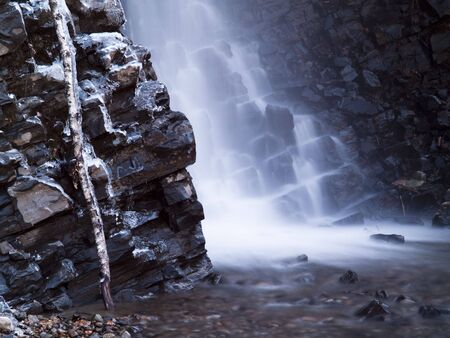 cascade: beautiful water cascade with rock and stone