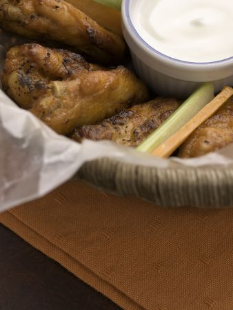 chicken buffalo wing with blue cheese sauce Stock Photo - 5505491