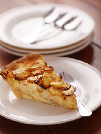 apple pie dessert with selective focus. Very shallow depth of field. Stock Photo - 6218368