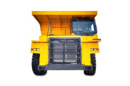 haul: Large haul truck isolated on a white background.