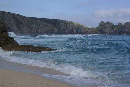 porthcurno: Rough Sea at Porthcurno, Cornwall