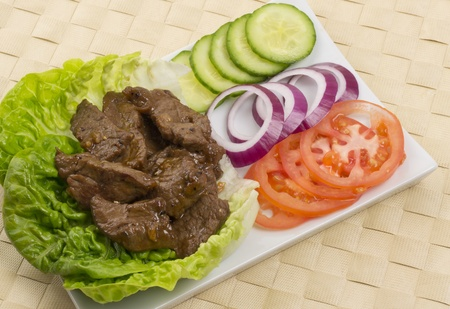 Cambodian (Loc Lac)  Vietnamese (Bo Luc Lac) stir-fried beef salad  Brazilian Filet Aperitivo