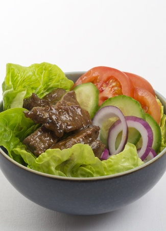 Loc Lac  - Shaking Beef (Beef Salad): Cambodian (Loc Lac)  Vietnamese (Bo Luc Lac) stir-fried beef salad photo