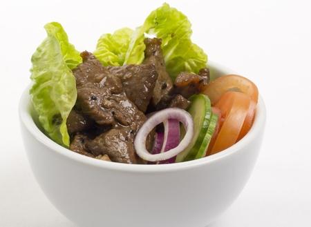 loc: Loc Lac  - Shaking Beef (Beef Salad): Cambodian (Loc Lac)  Vietnamese (Bo Luc Lac) stir-fried beef salad