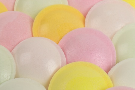 sherbet: Flaying Saucers - Spaceship shaped sugar paper filled with sherbet close-up