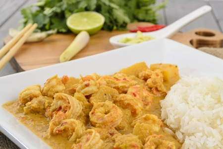 Udang Masak Lemak Nenas  Prawn   Pineapple Curry  - Nyonya Cuisine  Malaysian prawn and pineapple in spicy coconut milk gravy