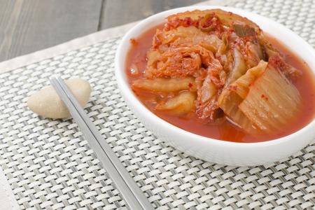 Kimchi - Korean fermented nappa cabbage side dish  Stock Photo
