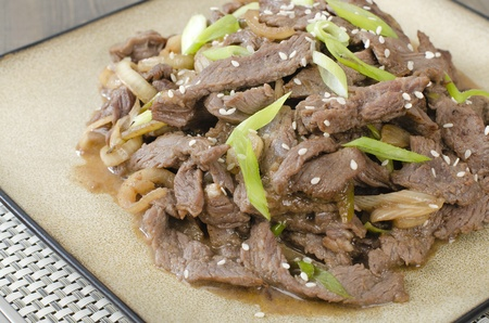Beef Bulgogi - Korean marinated BBQ beef