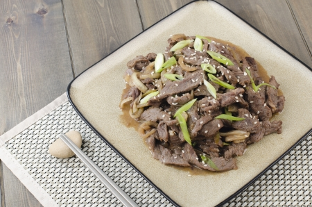 Beef Bulgogi - Korean marinated BBQ beef  photo