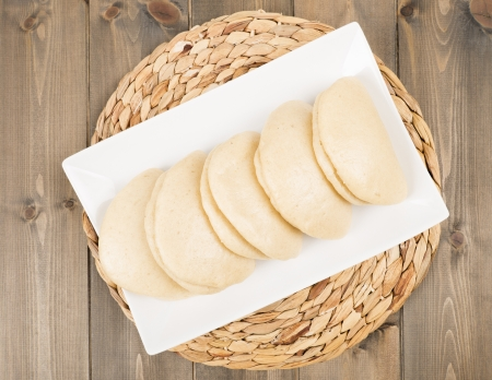 gua: He Yeh Bao - Chinese steamed buns used to make sandwiches  Usually stuffed with braised pork or roast duck, and also used for the Taiwanese Gua Bao  Stock Photo