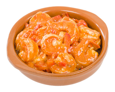 tomate: Camarones Enchilados - Cuban style shrimp in a tomato based sauce. Banque d'images