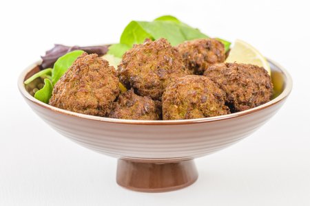 balls deep: Falafel - Middle Eastern deep fried balls made of chickpeas.