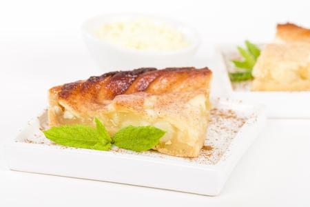 aux: Tarte Aux Pommes - Apple pie served with creme.