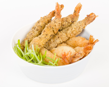 king of thailand: Breaded Prawns - King prawns coated in plain and spicy breadcrumbs and deep-fried.