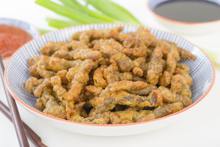 Crispy Beef - Oriental battered and deep-fried beef with sweet chilli sauce.