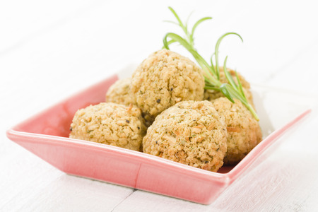 Stuffing - Sage and onion stuffing balls. Traditional British side dish.