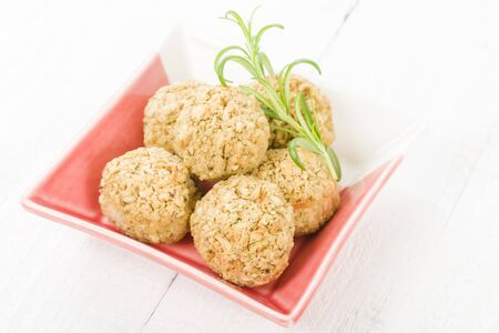 stuffing: Stuffing - Sage and onion stuffing balls. Traditional British side dish.