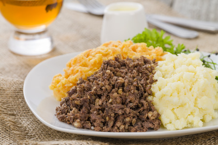 neeps: Haggis, Neeps  Tatties - Traditional Scottish meal commonly served at Burns Night.
