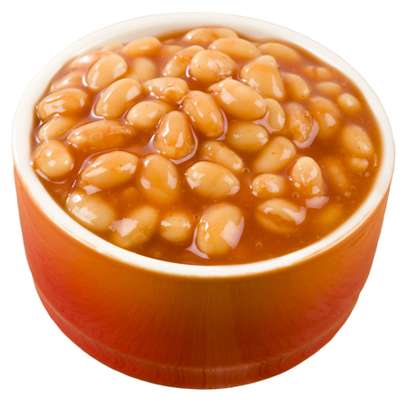 Baked Beans - Bowl of baked beans in tomato sauce