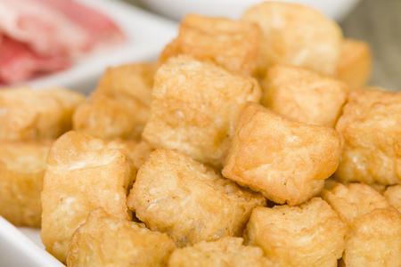 beancurd: Tofu Puffs - Deep fried tofu.