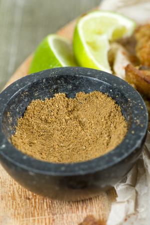 chaat: Chaat Masala - Sweet and sour spice mix used in Pakistani and Indian cuisine usually sprinkled over snacks and appetizers.