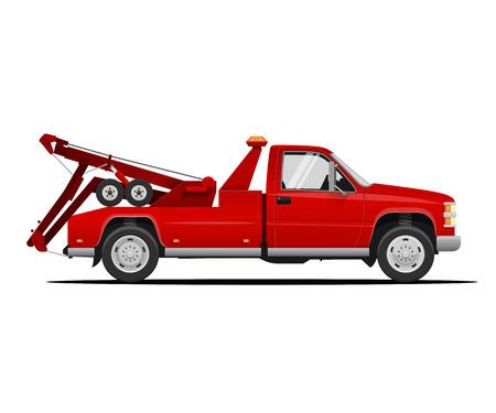 Abschleppfahrzeug. Vektorabbildung des Abschleppwagens. Abschleppen