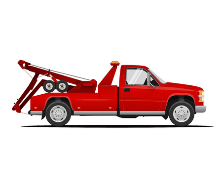 Tow Truck. Vector Illustration of Tow Truck. Towing