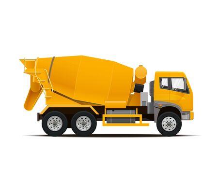 cemento: Cement Mixer Truck. High Detailed Vector illustration.