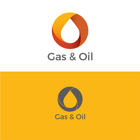 Gas and Oil Logo. Icon. Vector illustration Çizim