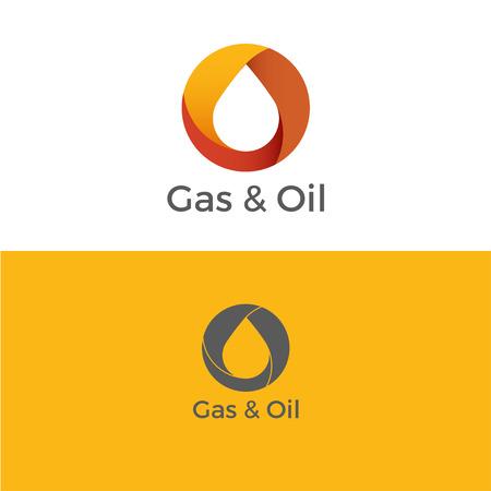 Gas en olie-logo. Icoon. Vector illustratie