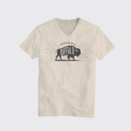 Buffalo American Wild T-Shirt Design Template. Vector T-Shirt Illustration. Illustration