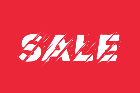Sale Sign Banner. Modern Styled Vector  Illustration. 일러스트