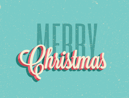 Vintage styled Merry Christmas background. Illustration