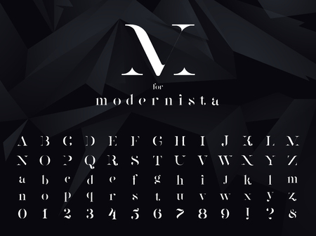 Modernista. Ultra modern minimalistic font, typeface for your  poster, book cover or any graphic design project.