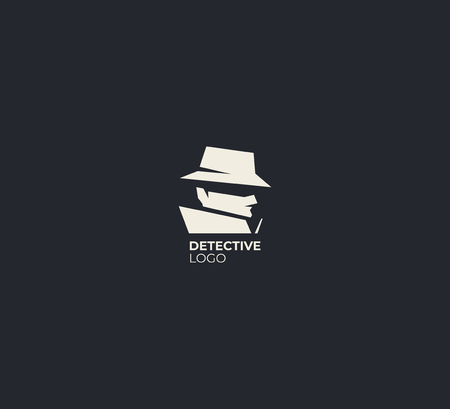 Spy detective logo design template.  illustration.