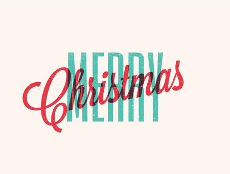 Merry Christmas lettering design.