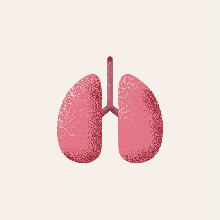 Lungs vector icon. Isolated on white background. Internal organs of the human design element. Anatomy, medicine concept. Healthcare. Vector illustration