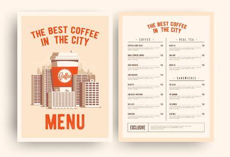 Coffee shop menu template.