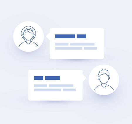 Communication, chatting. Chat messages notification screen. Vector illustration