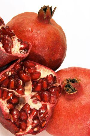 pips: Granaatappels, een split open