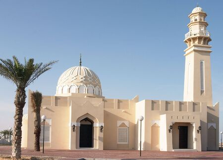 persian gulf: A new mosque in the Arabian (Persian) Gulf oil state of Qatar. Located at West Bay, Doha