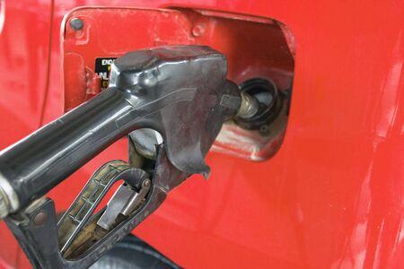 benzin: Filling up a car Stock Photo