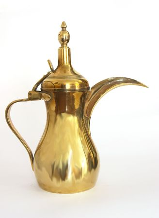 coffeepot: Arabian coffee pot, or dallah, a symbol of welcome