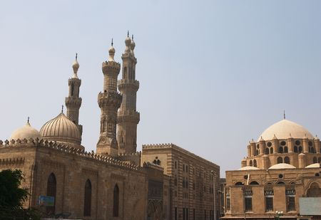 sunni: The ancient Al Azhar Muslim University and Mosque, the highest seat of Sunni Islamic learning, in Cairo.