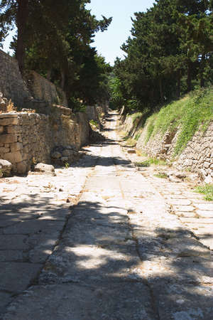 reconstructed: Minoan path from Knossos, Crete, to the Little Palace