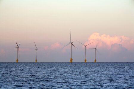 wind farm: El parque e�lico en Great Yarmouth, Norfolk
