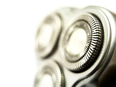 electric razor: Macro view of an electric razor. Stock Photo