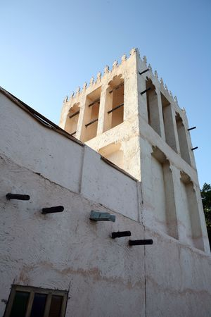 convection: A traditional wind tower - which helped to cool a house making use of convection currents - at the Heritage Village in Qatar, Arabia